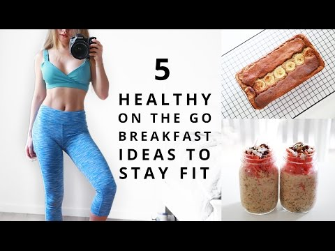 Healthy Breakfast Ideas | Fitness Food | On The Go Breakfast For School, Work