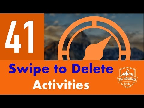 Swipe to Delete Activities - Part 41 - Itinerary App (iOS, Xcode 10, Swift 4) thumbnail