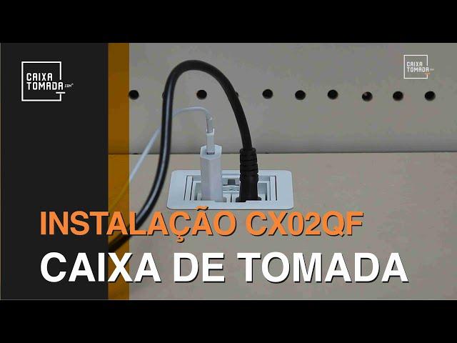 Instalação Caixa de Tomada Embutir CX02QF