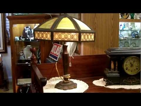 Antique Lamps, Slag glass lamp response, Gannon's Antiques
