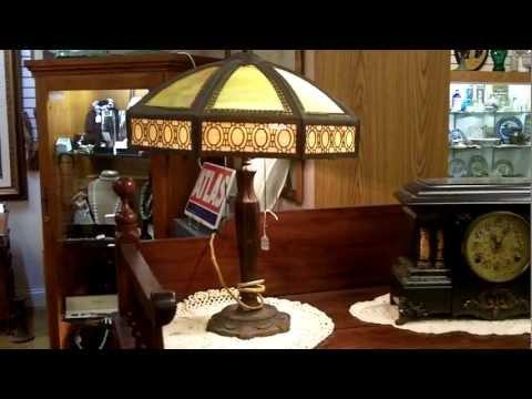 Antique Lamps, Slag Glass Lamp Response, Gannon's Antiques