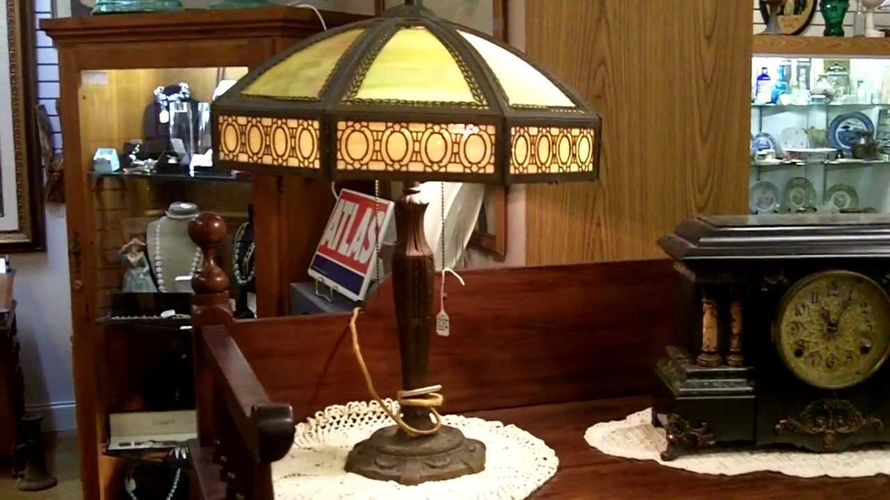antique lamps slag glass lamp response gannons antiques - Antique Lamp