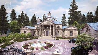 Проект загородного дома в стиле классицизма (Видео обзор)