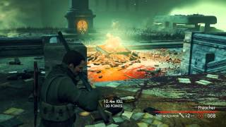 Sniper Elite Nazi Zombie Army COOP Walkthrough RO Library of Evil Elite Difficulty P2