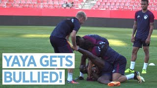 MENDY RETURNS & YAYA GETS BULLIED! | City Training in Girona