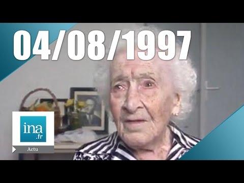 20h France 2 du 4 août 1997 - Mort de Jeanne Calment   Archive INA