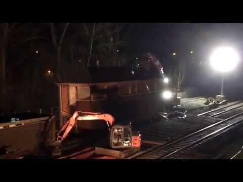Banbury North Signal Box Demolition - 26/03/2017