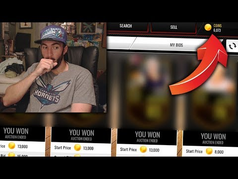 SPENDING ALL MY COINS IN ONE SNIPING ROUND + FREE LEAGUE SPOT! NBA LIVE MOBILE BALLING ON A BUDGET