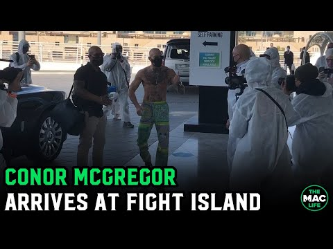 Conor McGregor arrives at Fight Island ahead of UFC 257