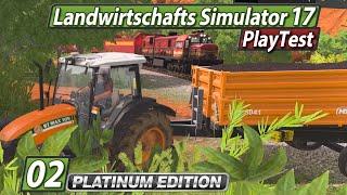 LS17 Platinum PlayTest 🚜 Zug-Unfall? Map erkunden! ► #2 Landwirtschafts Simulator 17 deutsch