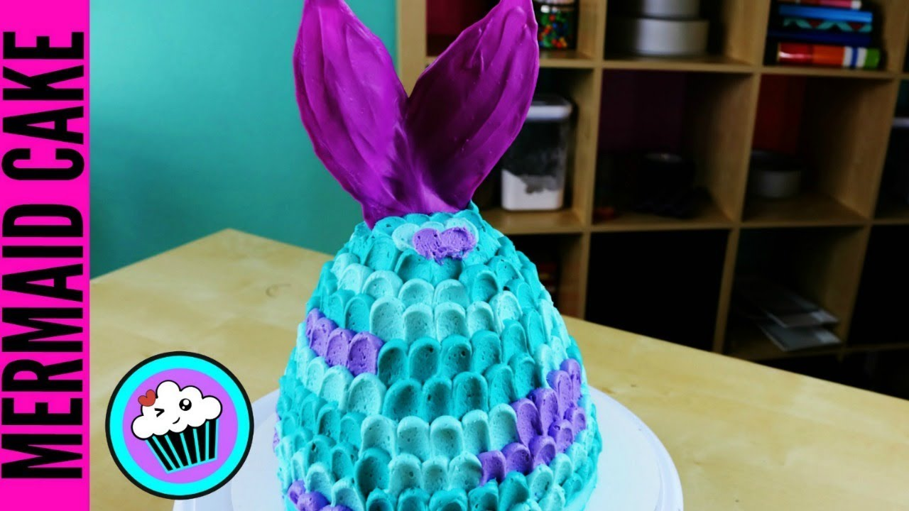 Easy Mermaid Tail Cake Pinch Of Luck Youtube