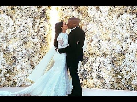 Kim y Kanye publican las fotos de su boda