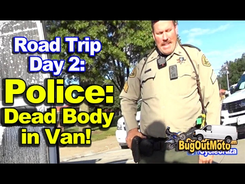 Stealth Camper Van Trip DAY 2:  Police: Dead Body in Van - Why I Cage Dog