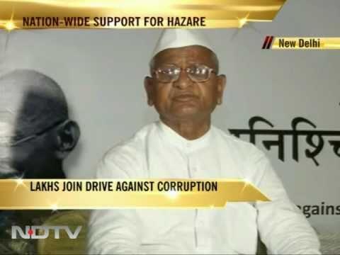 Anna Hazare S Fast For Lokpal Bill Youtube