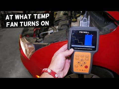 AT WHAT TEMPERATURE RADIATOR FAN TURNS ON CHEVROLET CRUZE, CHEVY SONIC, HOLDEN CRUZE