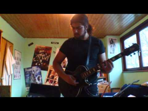 Elbion´s lead guitarist Emanuel practicing and working on solos