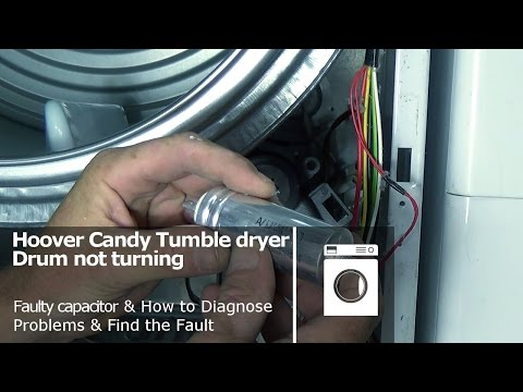 Hoover Candy Tumble dryer drum not turning and belt ok faulty capacitor