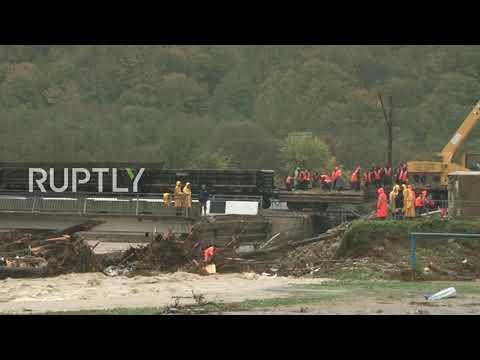 Russia: Heavy flooding in Krasnodar Region leaves at least two dead