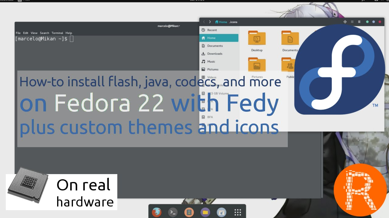 How-to install flash, java, codecs, and more on Fedora 22 with Fedy plus  custom themes and icons