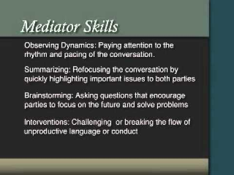 Mediation 101 - Essential Mediator Skills