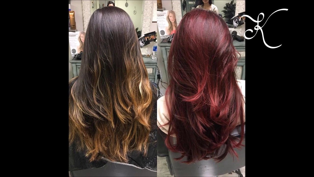 How To Balayage To Create Dimensional Red Hair