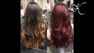 How To Balayage To Create Dimensional Red Hair | Professional Colorist thumbnail