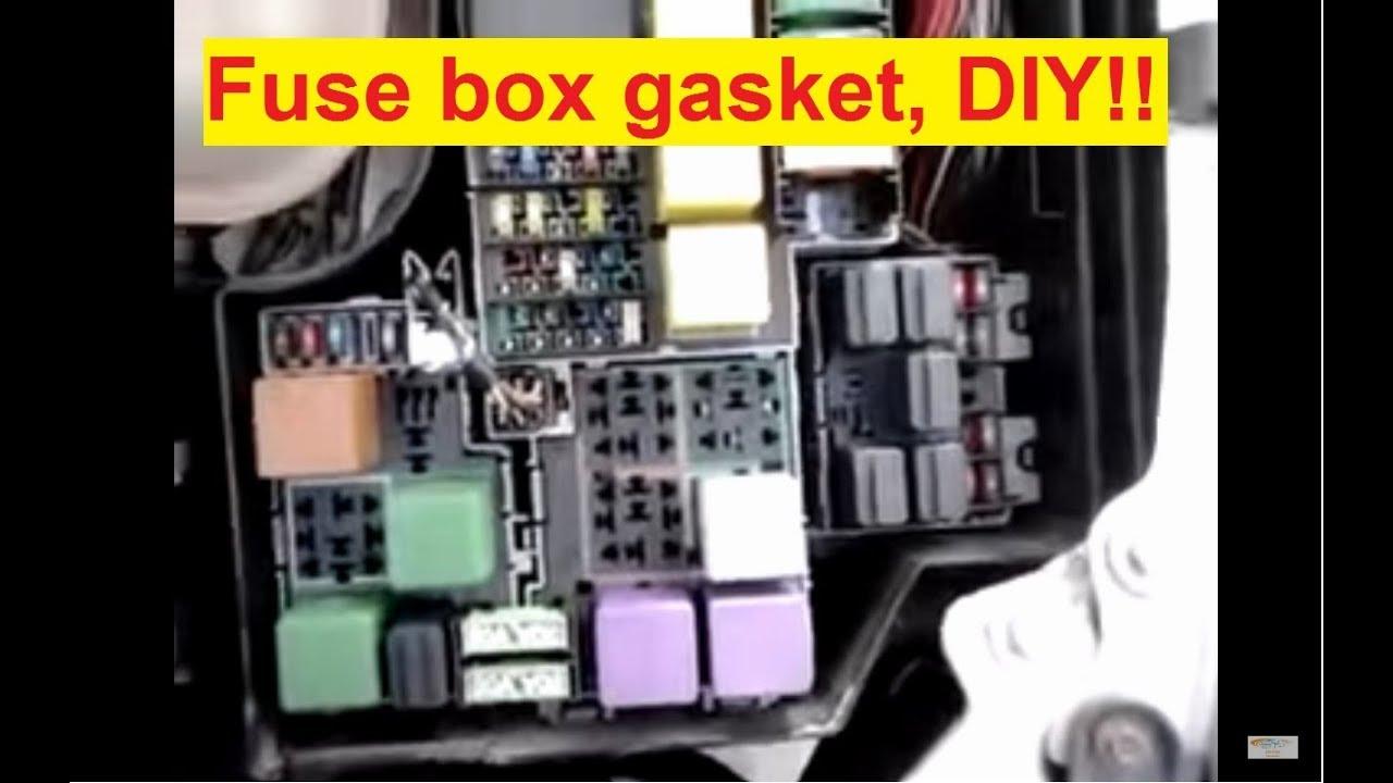 medium resolution of fuse box gasket wiring diagram megafuse box gasket 7