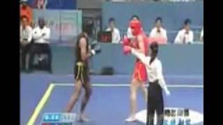 issam barhoumi champion du monde de kung-fu wushu (sanchou) chine 2008 (tunisie vs iran )