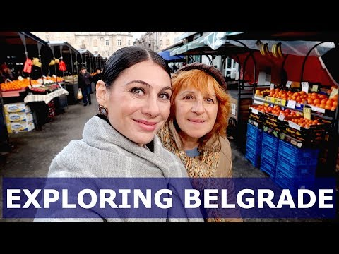 BELGRADE TRAVEL VLOG: TRADITIONAL SERBIAN FOOD market & music   TRAVEL VLOG IV