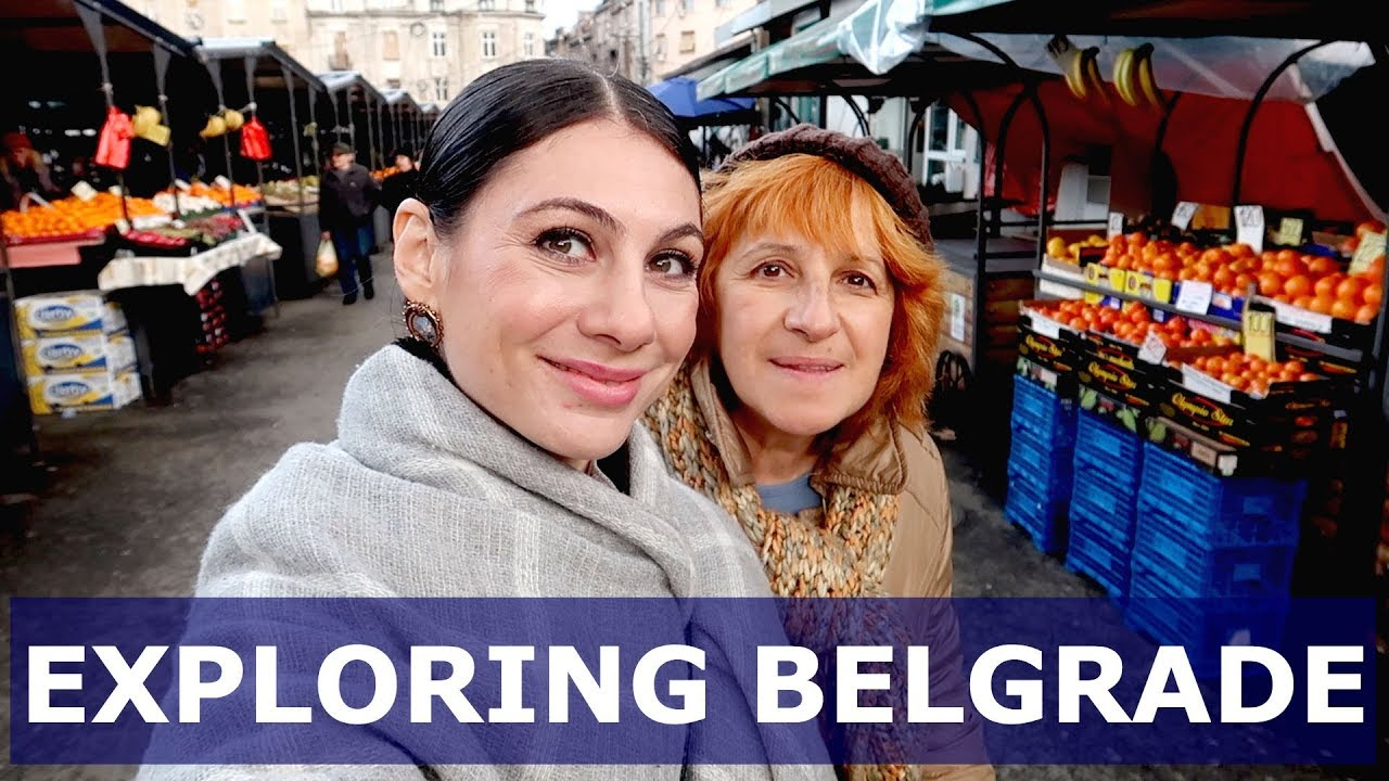 BELGRADE TRAVEL VLOG: TRADITIONAL SERBIAN FOOD market & music | TRAVEL VLOG IV