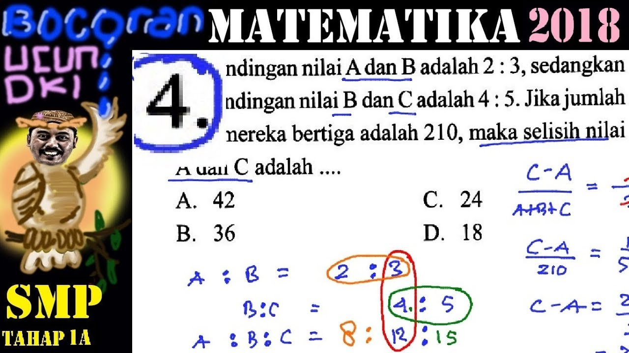 Prediksi Un Matematika Smp 2018 Bocoran Ucun Ujicoba Un Dki No 4 Perbandingan Bertingkat By Insight