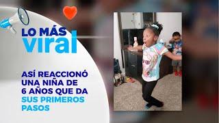 Conmovedor; niña con parálisis cerebral da sus primeros pasos - Chic al Día EVTV - 10/09/19
