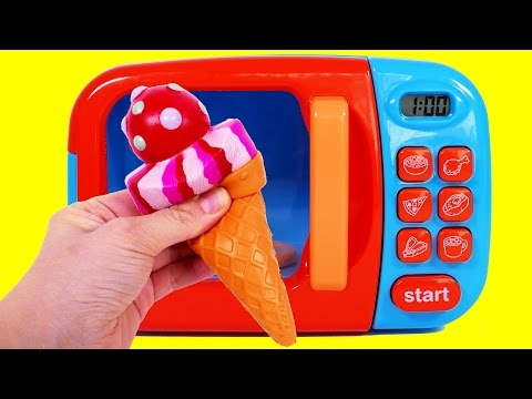 Thumbnail: Ice Cream Microwave Learn Colors Play Doh Ice Cream for Children