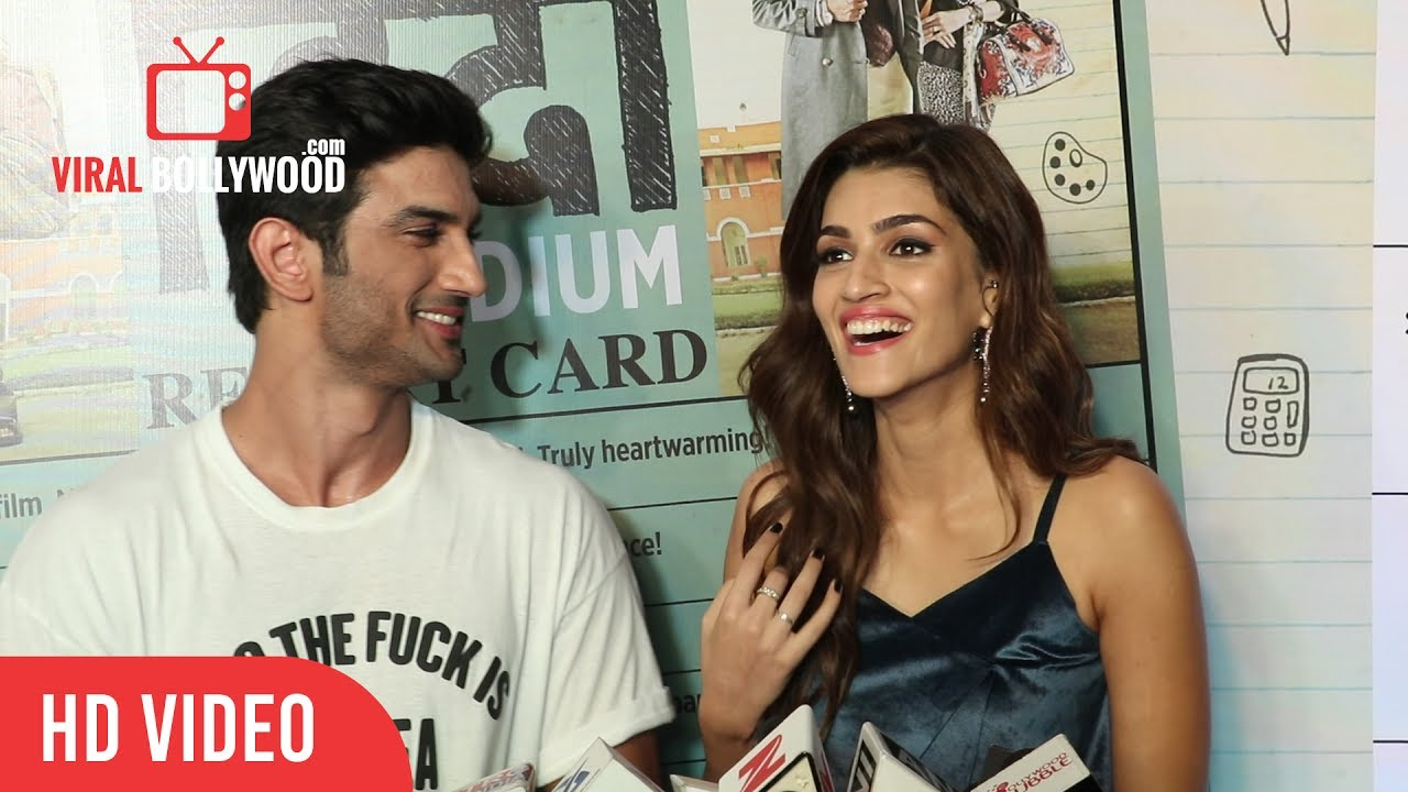 Kriti Sanon Prasing Sushant Singh Rajput Hindi Medium Success