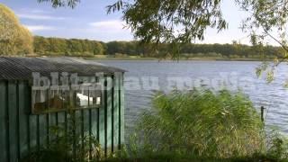 Stock Footage Europe Germany Boat House Mecklenburg Lake District Bootshaus Urlaub Travel Seenplatte