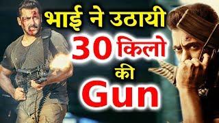 salman khan lifts 30 kg machine gun in tiger zinda hai