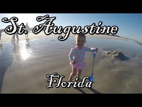 ST. AUGUSTINE, FLORIDA!! // DELLA'S 1ST BEACH TRIP!!!