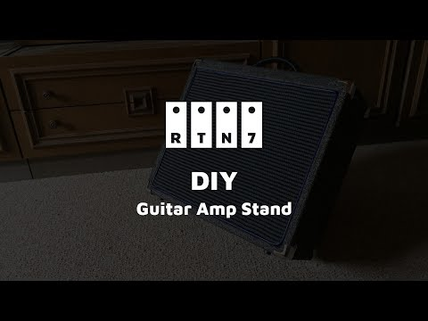 DIY Guitar Amp/Combo Stand (Rumble cover, MMJUZ combo, Tokai Silverstar, Strymon Flint)