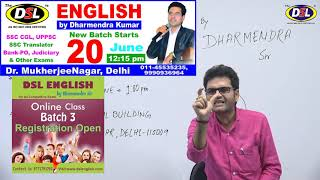 🔴 Live | Online Doubt Session-5 Date: 16-06-18 | by Dharmendra Sir | English for SSC CGL BANK PO