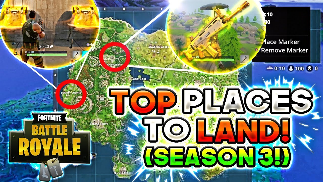 best places to land in fortnite battle royale season 3 get the best guns more chest s - highest places in fortnite battle royale