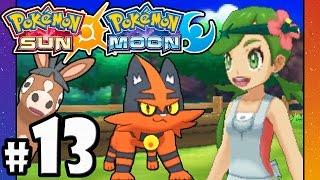 Pokemon Sun and Moon - 3DS Gameplay Walkthrough PART 13 - Paniola Town: Torracat, Mudbray, Stoutland