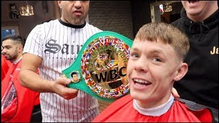 CHARLIE EDWARDS IN THE CUT! - IFL TV *EXCLUSIVE* WITH NEW WBC FLYWEIGHT WORLD CHAMPION @ NJR BARBERS
