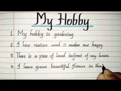 10 Lines on My Hobby//My Hobby Essay//My Hobby(Gardening)//Essay Writing//@MASTER HANDWRITING