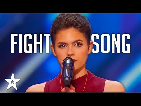 Survivor Calysta Bevier gets GOLDEN BUZZER on America's Got Talent 2016