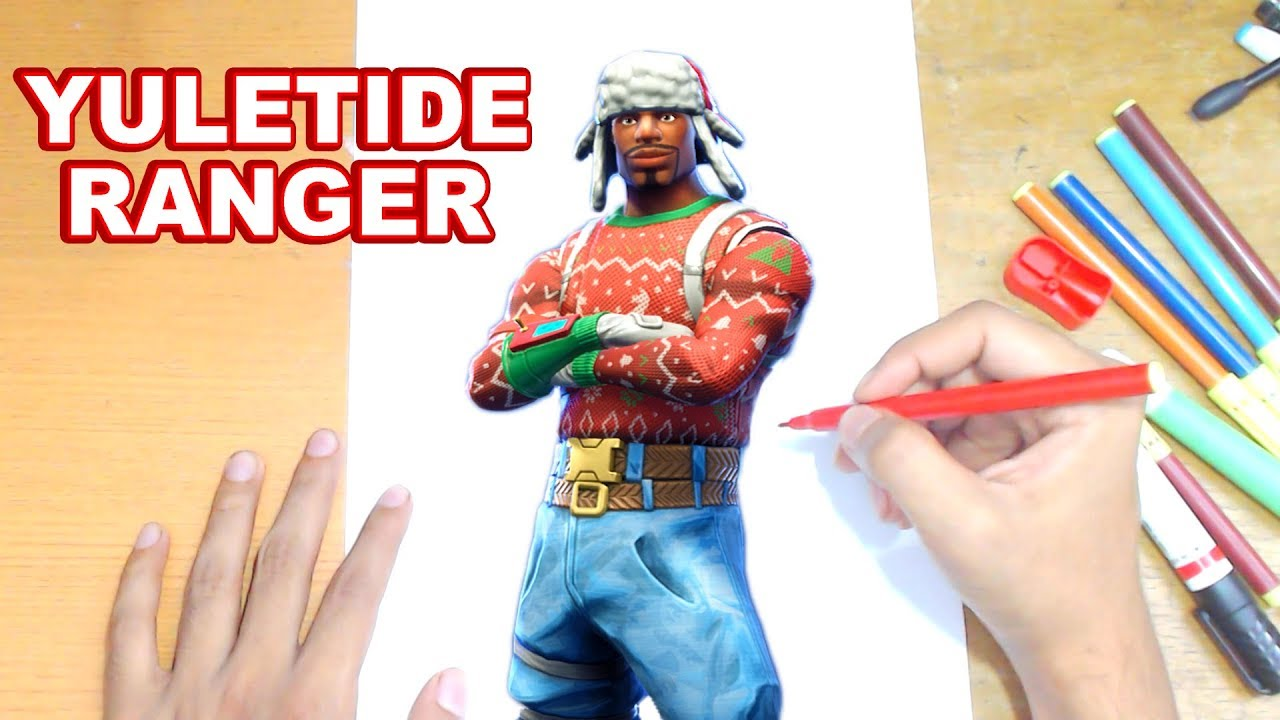 FORTNITE Drawing YULETIDE RANGER - How to Draw Christmas ...