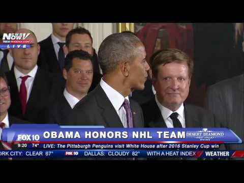 FNN: President Obama Honors NHL Team Pittsburgh Penguins at White House