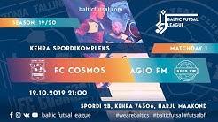 [RUS] Baltic Futsal League. MD 1. FC Cosmos - AGIO FM. Live stream