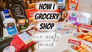 How I grocery shop as a single parent | Grocery shopping for two | Meal Planning for toddlers