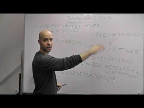 Středoškolská matematika - Číselné obory 18 - Reálná a iracionální čísla