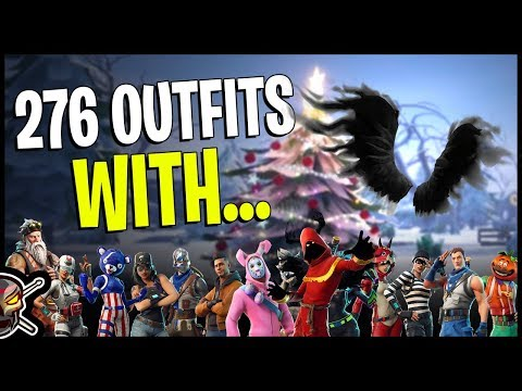 Shadow Wings On 276 Outfits | Cloaked Shadow - Fortnite Cosmetics